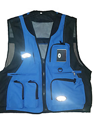 cheap -Women's Men's Hiking Vest / Gilet Fishing Vest Sleeveless Vest / Gilet Top Outdoor Multi-Pockets Quick Dry Lightweight Breathable Summer Acrylic Nylon Solid Color ArmyGreen off white Blue Fishing