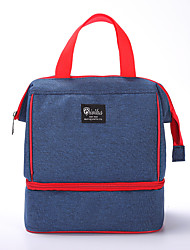 cheap -Unisex Waterproof Polyester Lunch Bag Zipper Solid Color Daily Office & Career Handbags Black Red Dark Blue Gray