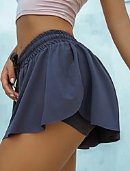 cheap -Women's Casual / Sporty Yoga Comfort Beach Fitness Shorts Pants Plain Mini Drawstring Black Blue Purple Blushing Pink Wine