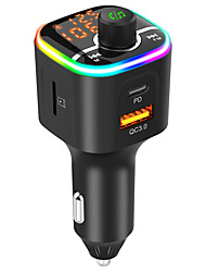 cheap -BC68 Bluetooth 5.0 FM Transmitter / Bluetooth Car Kit Car Handsfree Over-current Protection / Over-voltage Protection / Flashlight Car