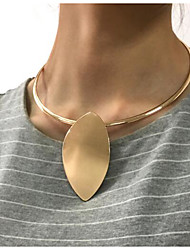 cheap -Women's Tattoo Choker Necklace Drop Oversized Alloy White Gold 43 cm Necklace Jewelry For