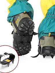 cheap -Climbing Protection Crampons Antiskid Portable Metalic Natural Rubber Camping / Hiking Camping / Hiking / Caving 2 pcs Black