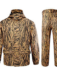 cheap -Men's Hiking Softshell Jacket Hoodie Camouflage Hunting Jacket Outdoor Thermal Warm Windproof Breathable Quick Dry Autumn / Fall Spring Camo / Camouflage Coat Top Bottoms Polyester Taffeta Softshell