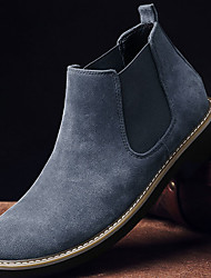cheap -Men's Boots Comfort Shoes Chelsea Boots Work Boots Daily Suede PU Booties / Ankle Boots Black Blue Khaki Winter
