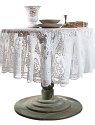 cheap -Round Lace Tablecloth Nordic Cover Cloth Retro Table Cloth Coffee Table Cloth