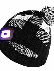 cheap -led lighted cap hat men women, rechargeable usb running cap with extremely bright 4-led lamp and flashing alarm light, hands free headlight cap night running hat