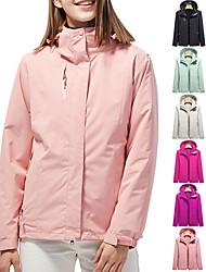 cheap -Women's Hiking Jacket Hiking 3-in-1 Jackets Ski Jacket Winter Outdoor Solid Color Waterproof Lightweight Windproof Breathable 3-in-1 Jacket Winter Jacket Top Single Slider Hunting Ski / Snowboard