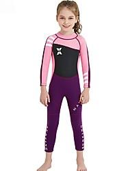 cheap -Kids Girls' Swimwear Rash Guard One Pieces One Piece Swimsuit Print Swimwear Print Color Block Purple Blushing Pink Green Active Bathing Suits 2-8 Years