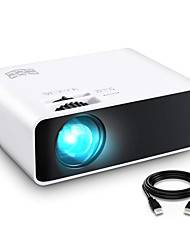 cheap -Projector Mini Projector LED 1080 Full HD Supported Video Projector  Display Portable Movie Projector Compatible with TV Stick DVD USB HDMI SD HDAV VGA