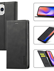 cheap -Multi-function Solid Colored Case For Apple iPhone 12 11 SE2020 Shockproof Wallet with Stand Protective Case PU Leather TPU Cover for iPhone XR XS Max iPhone 8 7