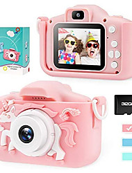 cheap -Unicorn Kids Camera for Girls Boys Toddler - Mini Digital Camera Toys for 3 4 5 6 7 8 Years Old Children - Anti-Drop 20.0MP Selfie Dual Video Camcorder - 2.0 Inches Screen + SD Card 32GB