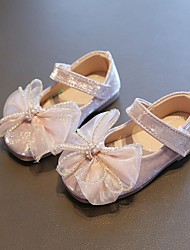 cheap -Girls' Flats Princess Shoes PU Little Kids(4-7ys) Daily Party & Evening Pink Silver Spring Summer / Square Toe