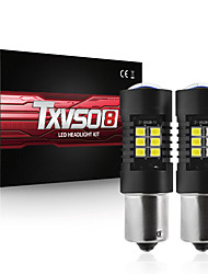cheap -TXVSO8 Car LED Headlamps Light Bulbs 1000-1200 lm SMD 3030 21 W For universal All years 2pcs