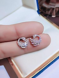 cheap -Women's Stud Earrings Animal Fashion Imitation Diamond Earrings Jewelry White For Formal Date
