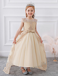 cheap -Girls Winter Dress Christmas White Red Children's Clothes Long Princess Party Wedding 10 12 Years Clothes