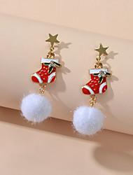 cheap -Women's Drop Earrings Fancy Cute Earrings Jewelry Red For Christmas Festival