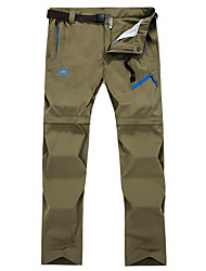 cheap -Women's Hiking Pants Trousers Convertible Pants / Zip Off Pants Solid Color Summer Outdoor Multi-Pockets Quick Dry Zipper Pocket Breathable Spandex Pants / Trousers Army Green Khaki Black Rose Red