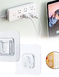 cheap -Hooks Washable / Self-adhesive / Easy to Use Modern Contemporary Plastic 6pcs Bath Organization