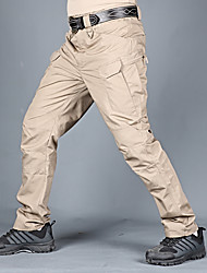 cheap -Men's Hunting Pants Tactical Cargo Pants Hiking Pants Trousers Waterproof Ventilation Quick Dry Breathable Fall Spring Solid Colored Cotton for Army Green Grey Khaki S M L XL XXL