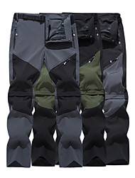 cheap -Men's Convertible Pants / Zip Off Pants Hiking Pants Trousers Patchwork Outdoor Water Resistant Quick Dry Stretch Multi Pockets Spandex 4 Zipper Pockets Elastic Waist Pants Army Green