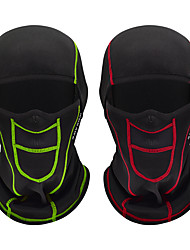 cheap -WOSAWE Cycling Cap / Bike Cap Helmet Liner Sports Mask Balaclava Stripes Solid Color Windproof Warm Breathability Dust Proof Comfortable Bike / Cycling Green Rose Red Winter for Unisex Snowsports
