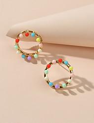 cheap -Women's Stud Earrings Geometrical Fashion Cute Earrings Jewelry Rainbow color For Date Festival