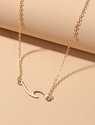 cheap -Women's Pendant Necklace Trendy Alloy Gold 48 cm Necklace Jewelry For Street Beach