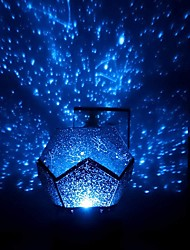 cheap -Baby & Kids' Night Lights Moon Star Starry Night Light LED Lighting Light Up Toy Constellation Lamp Star Projector Glow USB Kid's Adults for Birthday Gifts and Party Favors  1 pcs