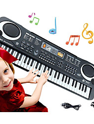 cheap -Educational Toy Electronic Keyboard Piano Piano Musical Instruments Rechargeable Fun Simulation Plastics Kid's Toy Gift