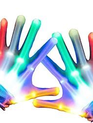 cheap -LED Flashing Magic Gloves for Kid Adult Glow In The Dark Light Up Finger Tip Lighting Toys for Children Novelty Christmas Goods