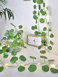 cheap -2M 20LEDs New Begonia Leaf LED String Lights Battery Operated Fairy Lights Holiday Christmas Wedding Living Room Garden Decoration Light (Come Without Battery)
