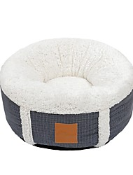cheap -Dog Cat Dog Beds Cat Beds Dog Bed Mat Round Shape Warm Multi layer Soft Elastic For Indoor Use Plush Fabric for Large Medium Small Dogs and Cats