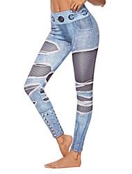 cheap -Women's Sporty Novelty Comfort Sport Casual Leggings Pants Graphic Ankle-Length Print Light Blue