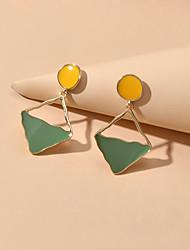cheap -Women's Drop Earrings Geometrical Modern Earrings Jewelry Green For Date Festival
