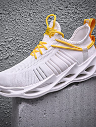 cheap -Men's Trainers Athletic Shoes Sporty Casual Athletic Running Shoes Basketball Shoes Tissage Volant Breathable Non-slipping Wear Proof White Black Yellow Fall