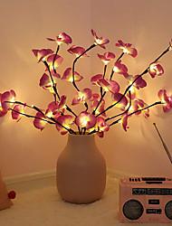 cheap -LED Simulation Orchid Branch Lights Bulbs Christmas Vase Filler Floral Light Holiday Garden Party Desktop Decor Lights 1 Bouquet 68cm