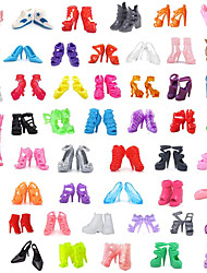 cheap -Doll Shoes For Barbiedoll Solid Colored Solid Color Polyester Shoes For Girl's Doll Toy