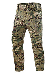 cheap -Men's Hunting Pants Hiking Pants Trousers Waterproof Ventilation Wearproof Fall Spring Summer Solid Colored Camo / Camouflage Cotton for Yellow Camouflage Grey S M L XL XXL