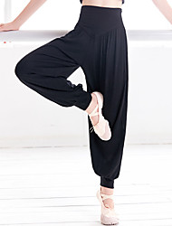 cheap -Activewear Pants Ruching Solid Girls' Training Performance High Cotton Blend