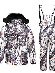 cheap -Men's Hoodie Jacket Hunting Jacket with Pants Outdoor Thermal Warm Windproof Quick Dry Breathable Winter Camo / Camouflage Top Bottoms Spandex Camping / Hiking Hunting Jungle camouflage