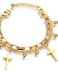 cheap -Women's Bracelet Geometrical Heart Stylish Simple Steel Bracelet Jewelry Silver / Gold For Daily Promise