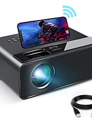 "cheap -WiFi Projector WiFi Mini Projector with Synchronize Smartphone Screen 1080P HD Portable Projector with 200"" Display Compatible with Android/iOS"