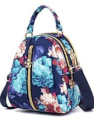 cheap -Women's Bags Nylon Crossbody Bag Zipper Flower Printing Daily Outdoor 2021 MessengerBag Dream flower Blue graffiti Graphics Night rose