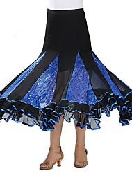 cheap -Ballroom Dance Skirts Paillette Women's Performance Natural Polyester