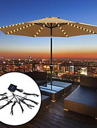 cheap -72 LED Solar Garden Umbrella light Outdoor Waterproof IP67 String Lights Light Sensor Control Garden Decorative Lamp 1 set