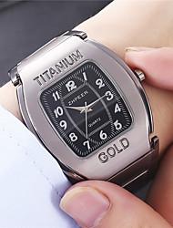 cheap -Men's Steel Band Watches Analog - Digital Quartz Geometrical Formal Style Calendar / date / day / Titanium Alloy