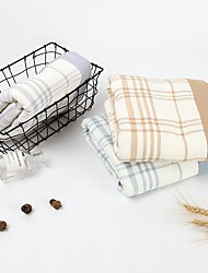 cheap -Superior Quality Bath Towel, Plaid / Check / Fashion Pure Cotton Bathroom 1 pcs