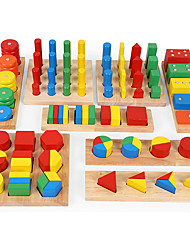 cheap -Montessori Teaching Tool Pegged Puzzle Math Toy 8-14 pcs compatible Wooden Legoing Cool Education Boys' Girls' Toy Gift / Kid's / Develop Creativity