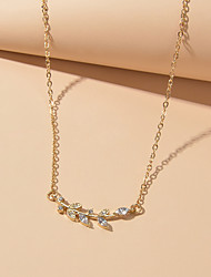 cheap -Women's Chain Necklace Cute Diamond Alloy Gold Silver 43 cm Necklace Jewelry For Festival