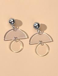 cheap -Women's Drop Earrings Geometrical Trendy Earrings Jewelry White For Date Birthday